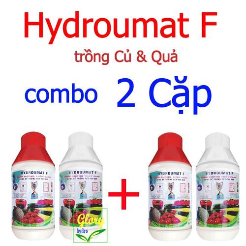 Combo 2 cặp dung dịch thủy canh cây ăn trái - HYDROUMAT F - dinh dưỡng thủy canh cho củ quả