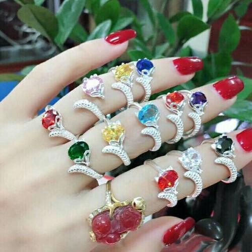 Nhẫn hồ ly bạc đính đá đủ màu free size theo mệnh - 6332223 , 16439975 , 15_16439975 , 170000 , Nhan-ho-ly-bac-dinh-da-du-mau-free-size-theo-menh-15_16439975 , sendo.vn , Nhẫn hồ ly bạc đính đá đủ màu free size theo mệnh