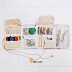 Bộ kim móc len và dụng cụ hỗ trợ ví cú