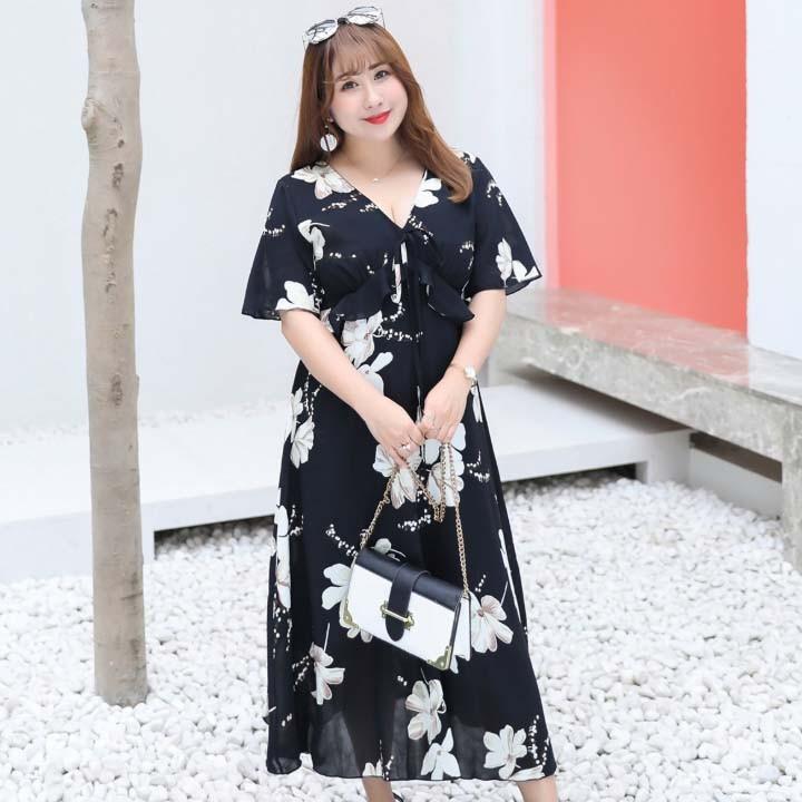 Đầm Bigsize cao cấp dành cho người mập từ 55-90Kg - V57 5