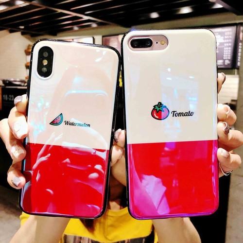 Ốp silicon phủ bóng Iphone 6, 6S, 7, 7P, 8P, X Dưa Cà Chua