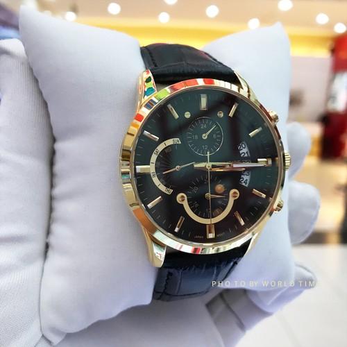 Đồng Hồ Nam Sunrise 1166SA G [ Chính Hãng Full Box ] Kính Sapphire Chống Xước , Chống Nước , Chronograph
