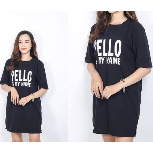 Đầm Suông Cotton In Chữ 33MA311 - Hàng Xịn