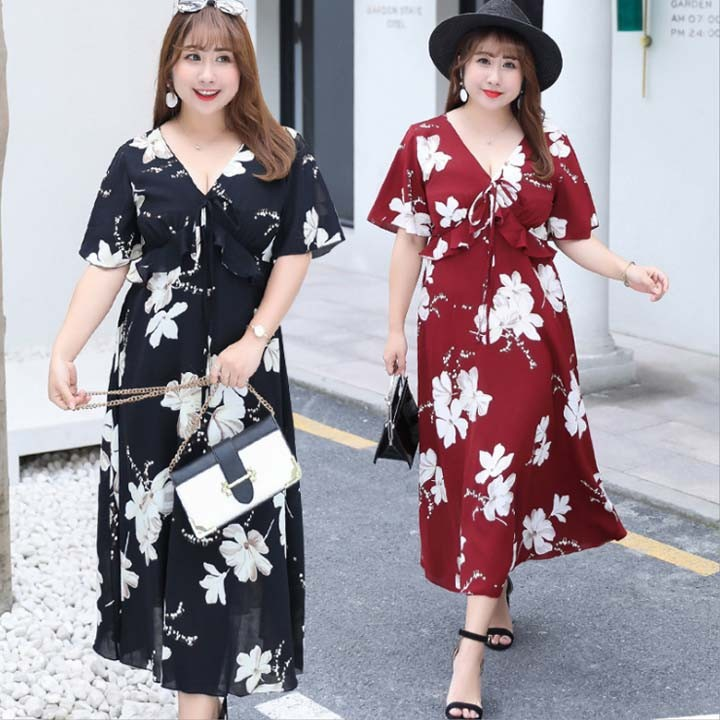 Đầm Bigsize cao cấp dành cho người mập từ 55-90Kg - V57 1