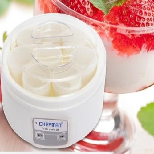 Máy làm sữa chua 8 cốc thủy tinh Chefman CM-302T