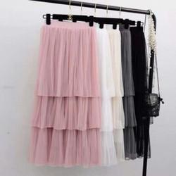 Chân váy xếp tầng đẹp