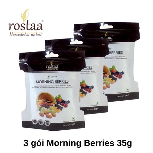 [ Sản Phẩm Mỹ]  3 gói MORNING BERRIES 35g - Tổng hợp hạt dinh dưỡng và trái cây sấy nhập khẩu Rostaa