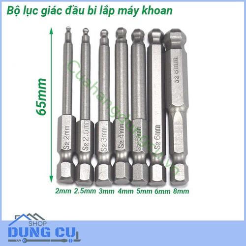 Bộ 7 lục giác đầu bi lắp máy khoan - 4717340 , 16462940 , 15_16462940 , 109000 , Bo-7-luc-giac-dau-bi-lap-may-khoan-15_16462940 , sendo.vn , Bộ 7 lục giác đầu bi lắp máy khoan