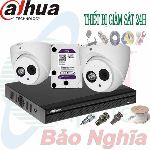 Trọn bộ Camera gia đình chuẩn 2megapixels chính hãng Dahua