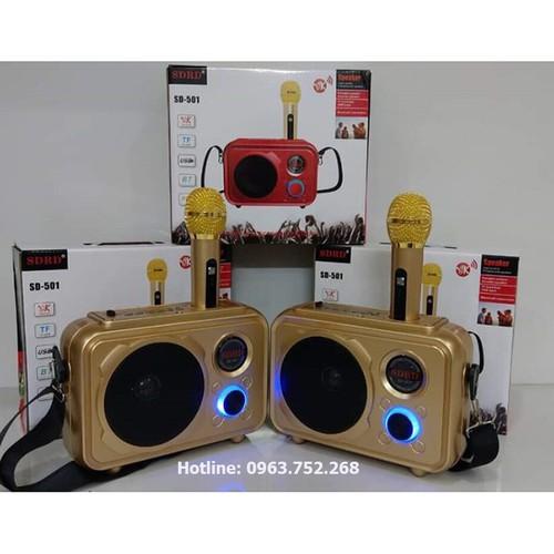 Loa hát karaoke SD501 kèm 1 micro không dây hát karaoke siêu hay