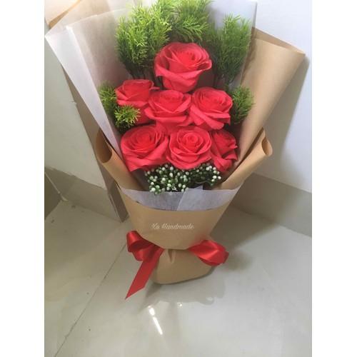Bó hoa hồng giấy handmade