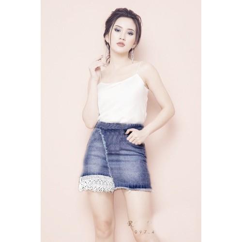 Chân váy jean nữ xinh xắn