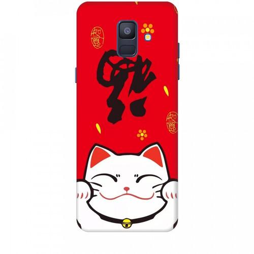 Ốp lưng dành cho điện thoại  samsung galaxy a6 2018 mèo thần tài mẫu 5  giá tốt