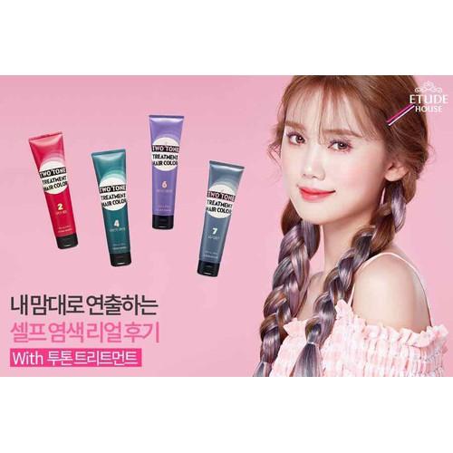 Nhuộm tóc dạng kem two tone treatment hair color