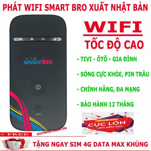 Thiết bị phát wifi 3G 4G cực xịn giá cực hấp dẫn SMART BRO