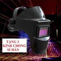Mũ hàn tự động - mặt nạ hàn điện tử tặng kèm 3 kính chống sỉ