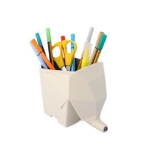 Hũ Con Voi Để Bàn Chải Đánh Răng, Bút Văn Phòng, Đũa Thìa Đa Năng