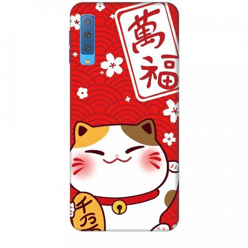 Ốp lưng dành cho điện thoại  samsung galaxy a7 2018 mèo thần tài mẫu 2  chất lượng