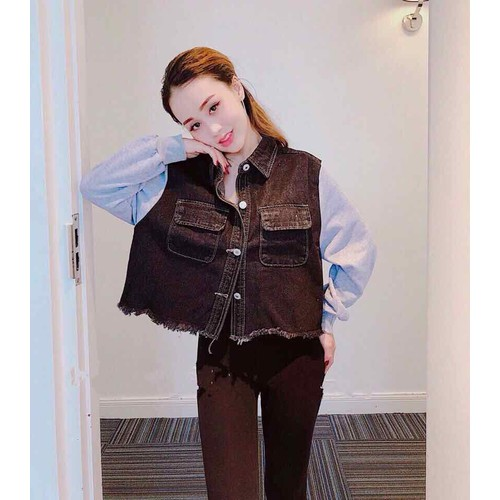Khoác jean nữ phong cách