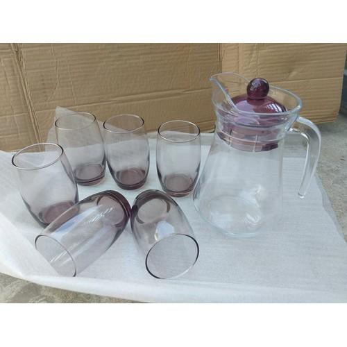 Bộ bình 6 ly thủy tinh