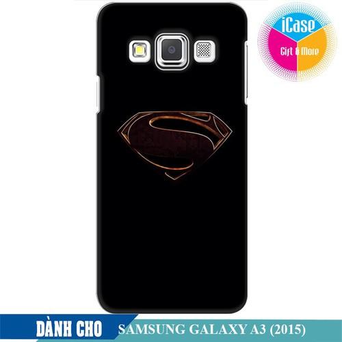 Ốp lưng nhựa cứng nhám dành cho Samsung Galaxy A3 in hình Superman