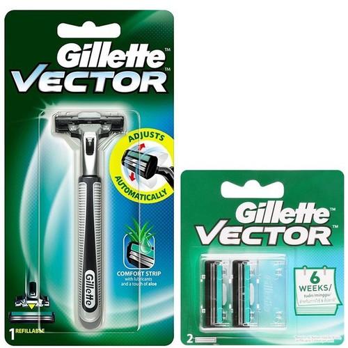 Bộ cần & lưỡi dao cạo râu Gillette Vector 03 lưỡi dao cạo Gillette Vector chính hãng