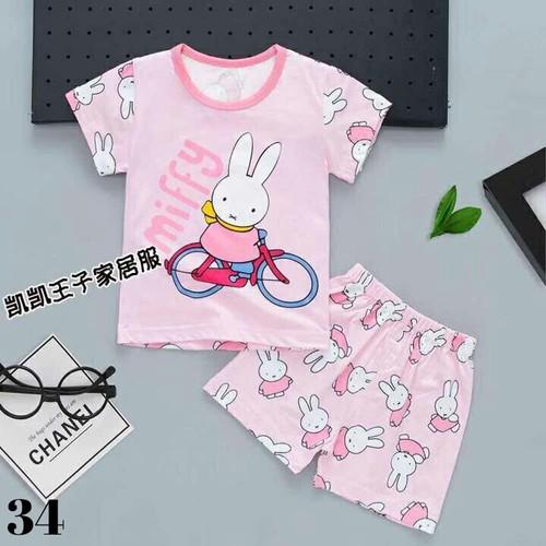 Bộ cộc tay Kai Kai xuất Hàn thỏ mffy cho bé gái 2-7 tuổi