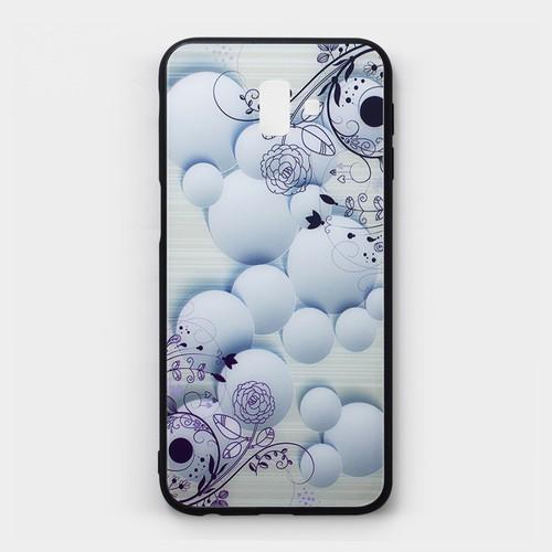 Ốp lưng cứng Samsung Galaxy J6 Plus viền dẻo hoa văn 5