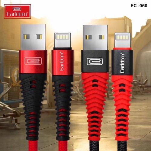 Cáp Sạc Lightning Cho Iphone Ipad Earldom EC-060i Chống Đứt Gãy,Siêu Bền