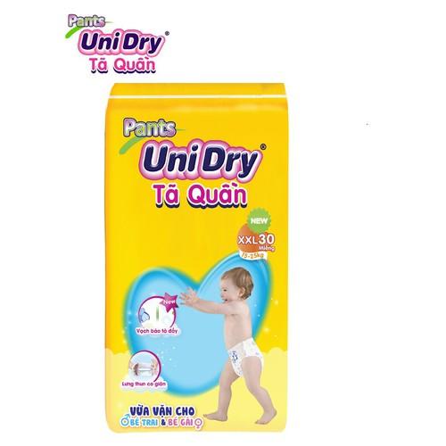 Bỉm tã quần Unidry size XXL30 cho bé cân nặng từ 15 đến 25 kg