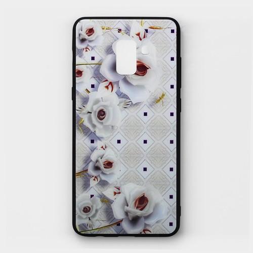 Ốp lưng cứng Samsung Galaxy A8 Plus hoa văn mẫu 1