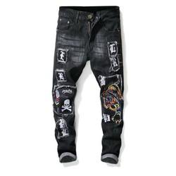 quần jeans nam chăp vá con cọp sắc màu Mã: ND1295