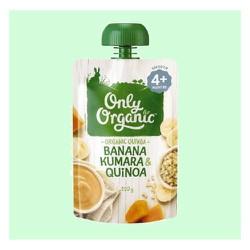 Trái Cây Nghiền Vị Chuối, Khoai Lang, Hạt Diêm Mạch hiệu Only Organic 120g