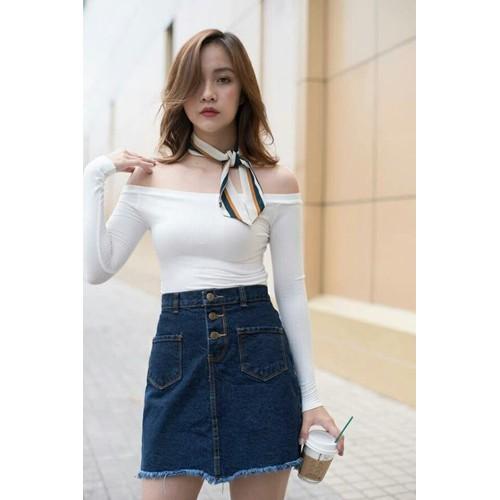 Chân váy jean nữ dễ thương - 6399005 , 16494536 , 15_16494536 , 125000 , Chan-vay-jean-nu-de-thuong-15_16494536 , sendo.vn , Chân váy jean nữ dễ thương