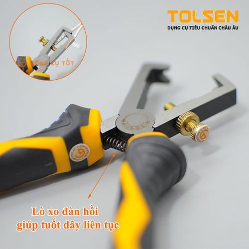 Kìm tuốt dây điện TOLSEN10028