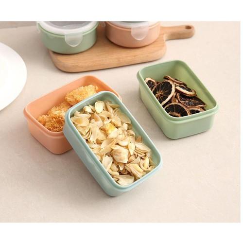 Bộ 3 hộp đựng thực phẩm hình chữ nhật-Hộp đựng đa năng-khay trữ đồ