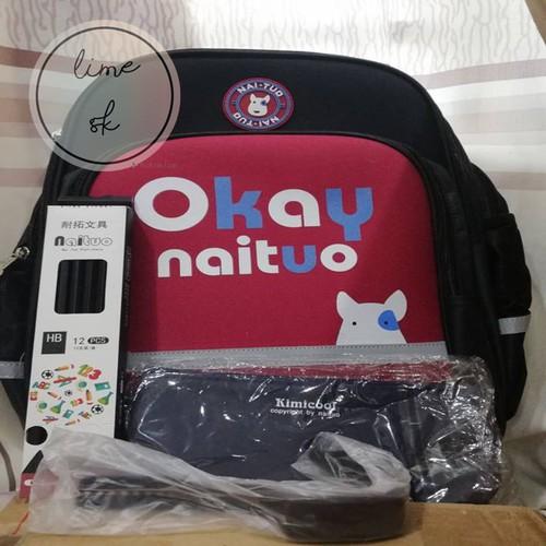 Balo cho bé đi học Okay Naituo size nhỏ 28.5*14.5*38,1-3