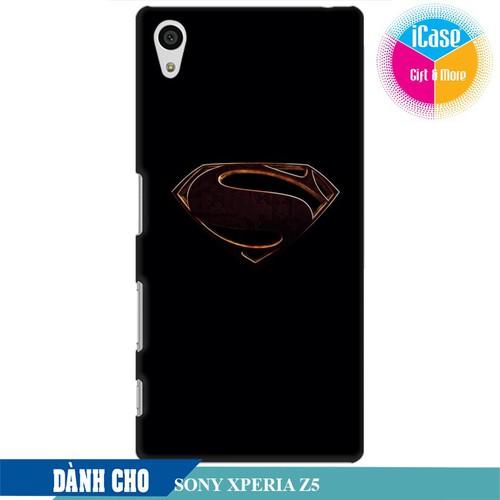 Ốp lưng nhựa cứng nhám dành cho Xperia Z5 in hình Superman