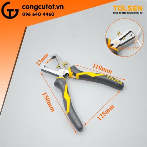 Kìm tuốt dây điện TOLSEN-10028