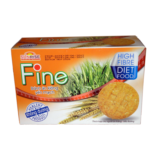 Bánh ăn kiêng yến mạch Fine 178g - hàng nhập khẩu Malaysia