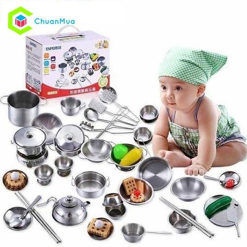 Bộ đồ chơi nấu ăn bằng inox 40 món cho bé DCA143 - 6382972 , 16483597 , 15_16483597 , 419000 , Bo-do-choi-nau-an-bang-inox-40-mon-cho-be-DCA143-15_16483597 , sendo.vn , Bộ đồ chơi nấu ăn bằng inox 40 món cho bé DCA143