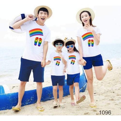áo gia đình, áo nhóm bàn chân đi biển cực chất