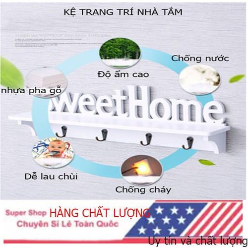 Kệ treo tường trang trí sweet home bằng gỗ nhựa PVC chống nước tuyệt đối - 6404336 , 16498139 , 15_16498139 , 160000 , Ke-treo-tuong-trang-tri-sweet-home-bang-go-nhua-PVC-chong-nuoc-tuyet-doi-15_16498139 , sendo.vn , Kệ treo tường trang trí sweet home bằng gỗ nhựa PVC chống nước tuyệt đối