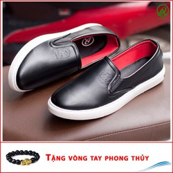 Giày Slip On Nam Aroti Đế Khâu Chắc Chắn Phong Cách Đơn Giản Màu Đen - M498-DEN-060319