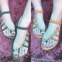 Giày Sandal Nữ Nhựa Dẻo Đi Mưa Kapu (Đen, Hồng, Kem) – M800