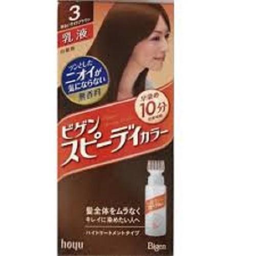 Thuốc Nhuộm Tóc BIGEN Nhật Bản Số 03 Màu Nâu Hạt Dẻ Đậm