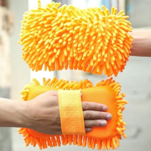 Miếng mút bọt biển rửa xe chuyên dụng có xúc tu màu cam
