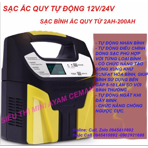 Máy sạc ắc quy tự động 12V-24V sạc ắc quy có khử sunfat - 11092731 , 16768278 , 15_16768278 , 839000 , May-sac-ac-quy-tu-dong-12V-24V-sac-ac-quy-co-khu-sunfat-15_16768278 , sendo.vn , Máy sạc ắc quy tự động 12V-24V sạc ắc quy có khử sunfat