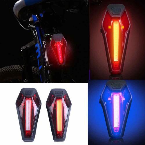 Đèn hậu gắn cọc yên xe đạp dùng pin