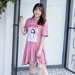đầm big size màu hồng hạ eo cao cấp bao xinh size lớn 68-80kg